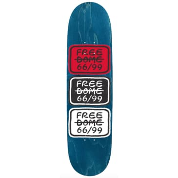 Free Dome Skateboards - FREE DOME - Stacked Logo Deck - 8.5""