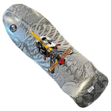 Powell Peralta Deck Geegah Sword and Skull Silver 9.75x29.8 Shaped