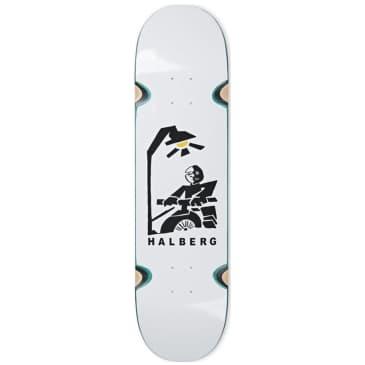 "Polar Halberg Insomnia White Wheel Wells Skateboard Deck - 8.25"""