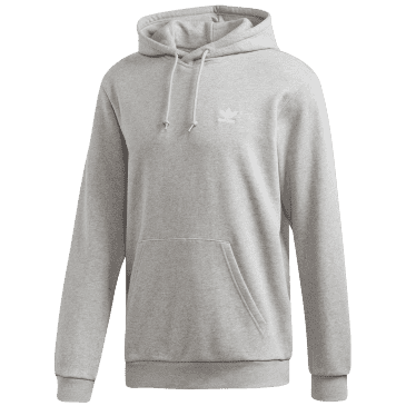 adidas Trefoil Essentials Hoodie - Medium Heather Grey