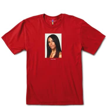 Color Bars Aaliyah Portrait T-Shirt - Red
