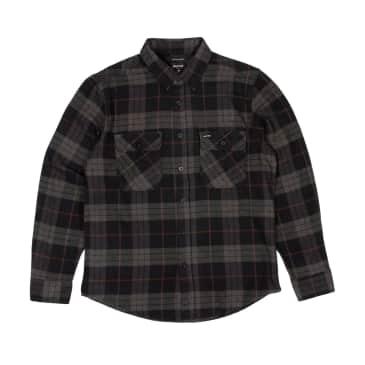 Brixton Bowery Long Sleeved Shirt - Black/Charcoal