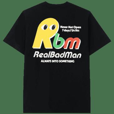 Real Bad Man Never Not Open Short Sleeve T-shirt - Black