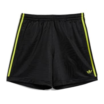 adidas Skateboarding Jacquard Shorts - Black / Acid Yellow