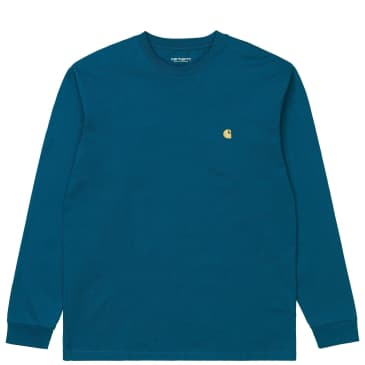 Carhartt WIP Chase Long Sleeve T-Shirt - Corse / Gold