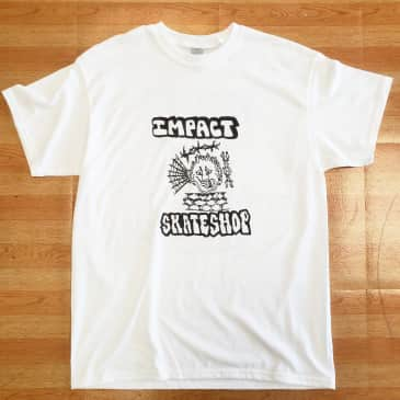 Impact SKATESHOP COMMUNITY Tee White