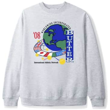 Butter Goods Athletic Network Crewneck - Heather Gray