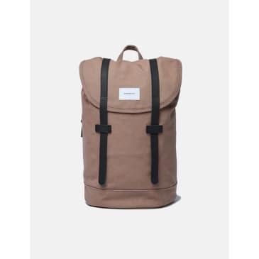 Sandqvist Stig Backpack - Earth Brown/Black Leather