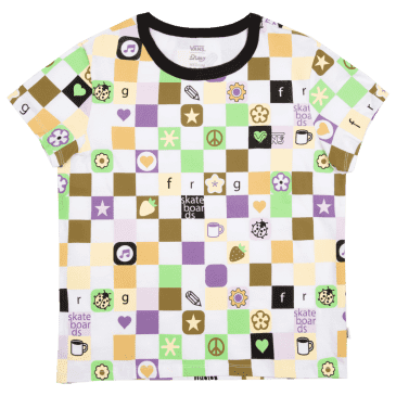 Vans x Frog Womens Cropped T-Shirt - Multi