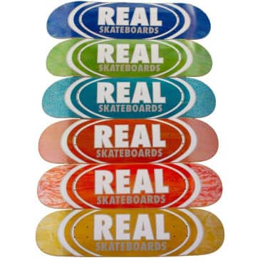 """Real Deck Oval Patterns Team Series 8.5"""" Assorted Colours"""
