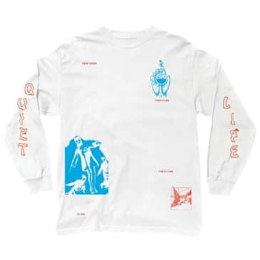 Quiet Life Times Long Sleeve Tee White
