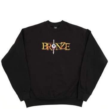 Bronze 56k Always Hard Embroidered Crewneck - Black