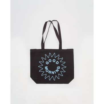 Good Morning Tapes Inner Peace Canvas Tote Bag - Charcoal Black