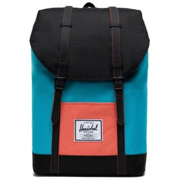 Herschel Retreat Backpack Standard - Blue Bird / Black / Emberglow