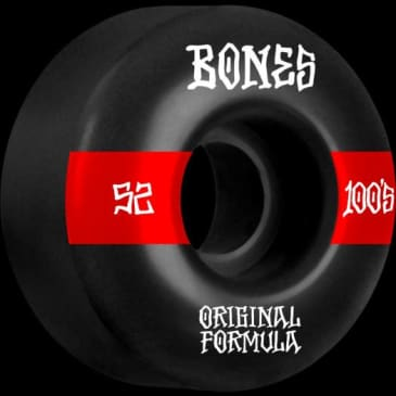 Bones 100's 52mm 100a V4 Wide Black