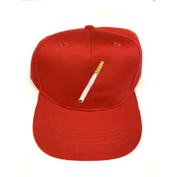 Flour Pail Kids Cigarette Embroidered SnapBack Hat Cap Red