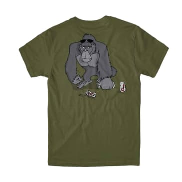 GIRL JUNGLE BEERS TEE - MILITARY GREEN