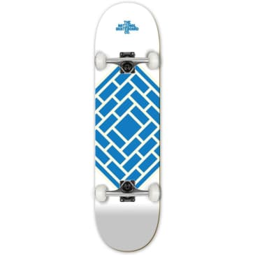 """The National Skateboard Co. - Classic White - High Concave - Complete Skateboard - 8.0"""""""