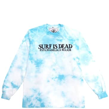 Surf Is Dead Village Green Tie Dye Long Sleeve T-Shirt - Blue