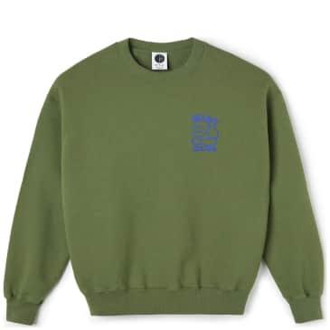 Polar Skate Co Big Boy Club Crewneck - Army Green