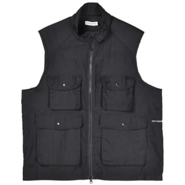 Pop Trading Co Safari Vest - Black