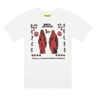 "CHINATOWN MARKET-""JESUS AND MARY T-SHIRT""(WHITE)"