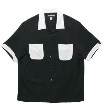Monitaly Vacation Shirt - Black / White