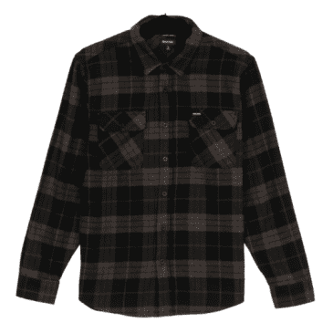 Bowery L/S Flannel | Black/Charcoal