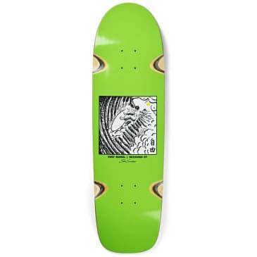 "Polar Skate Co. Shin Sanbongi Freedom Lime Surf JR Shape Wheel Wells Skateboard Deck - 8.75"""
