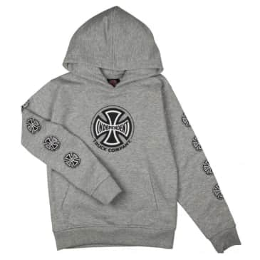 Independent Truck Co. Sleeve Printed Youth Hoodie - Heather Grey