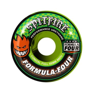 Spitfire F4 99a Conical Full Swirl Blk/Grn 53mm