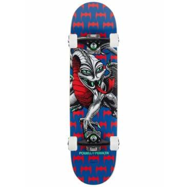 "Powell Peralta Cab Dragon Navy Complete Skateboard - Mini (7.5"" x 28.65"")"