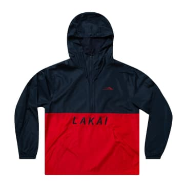 LAKAI REWIND HALF-ZIP WINDBREAKER - NAVY/RED
