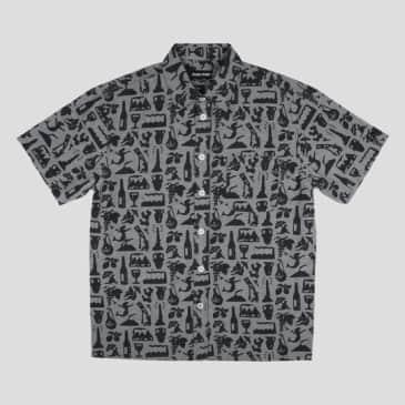 Passport Skateboards - Life of Leisure S/S Button Up Shirt Black