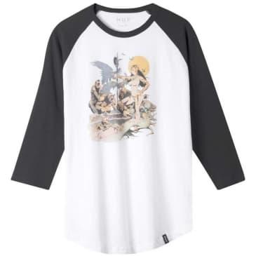 HUF Frazetta Rocker Raglan Long Sleeve T-Shirt - White
