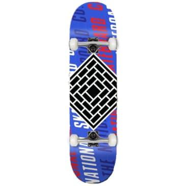 "The National Skateboard Co. - Logo Slant Black (Lucky Dip Stain) - Medium Concave - Complete Skateboard - 8.0"""