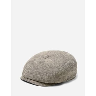 Stetson Hatteras Yarnell Newsboy Cap (Wool Mix) - Beige/Grey