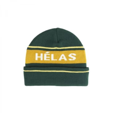 Hélas Knitted Beanie - Green / Orange