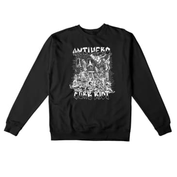 Antihero Crew Curb Riot Tee Black/White - Large