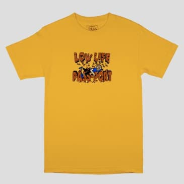 "Pass~Port Skateboards - Low Life ""Brick Tee"" - Gold"