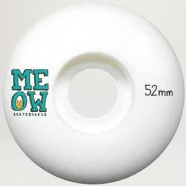 Meow Stacked Logo Wheels 52mm