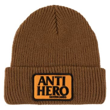 Antihero Reserve Patch Cuff Beanie (Brown/Orange)