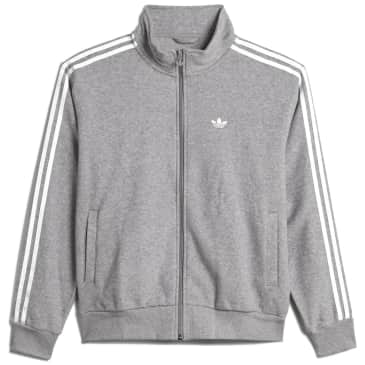 adidas Skateboarding Boucle Firebird Track Jacket - Medium Grey Heather / White
