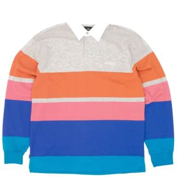 OBEY Automation Rugby Shirt - Heather Ash Multi