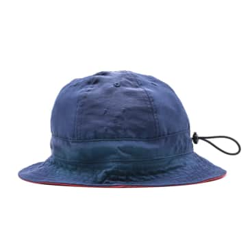 Pop Trading Company Reversible Bell Hat - Navy/Red
