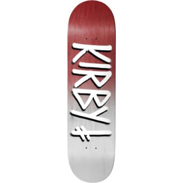 Deathwish Taylor Kirby Burgundy/White Gang Name Skateboard Deck - 8.5