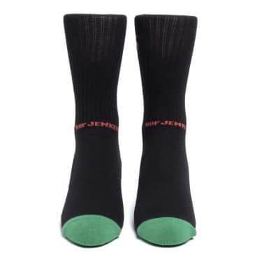HUF x Jenkem The Portal Crew Sock - Black
