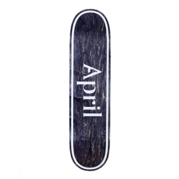 April OG Logo Invert Black Deck - (8.38)