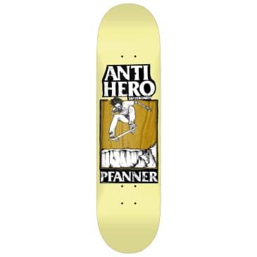 "Anti Hero Skateboards - 8.25"" Chirs Pfanner Lance Skateboard Deck - Yellow / Brown"