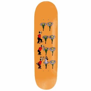 "Pass~Port Skateboards - Pass~Port What U Thought Flowers Skateboard Deck Orange | 8.38"""